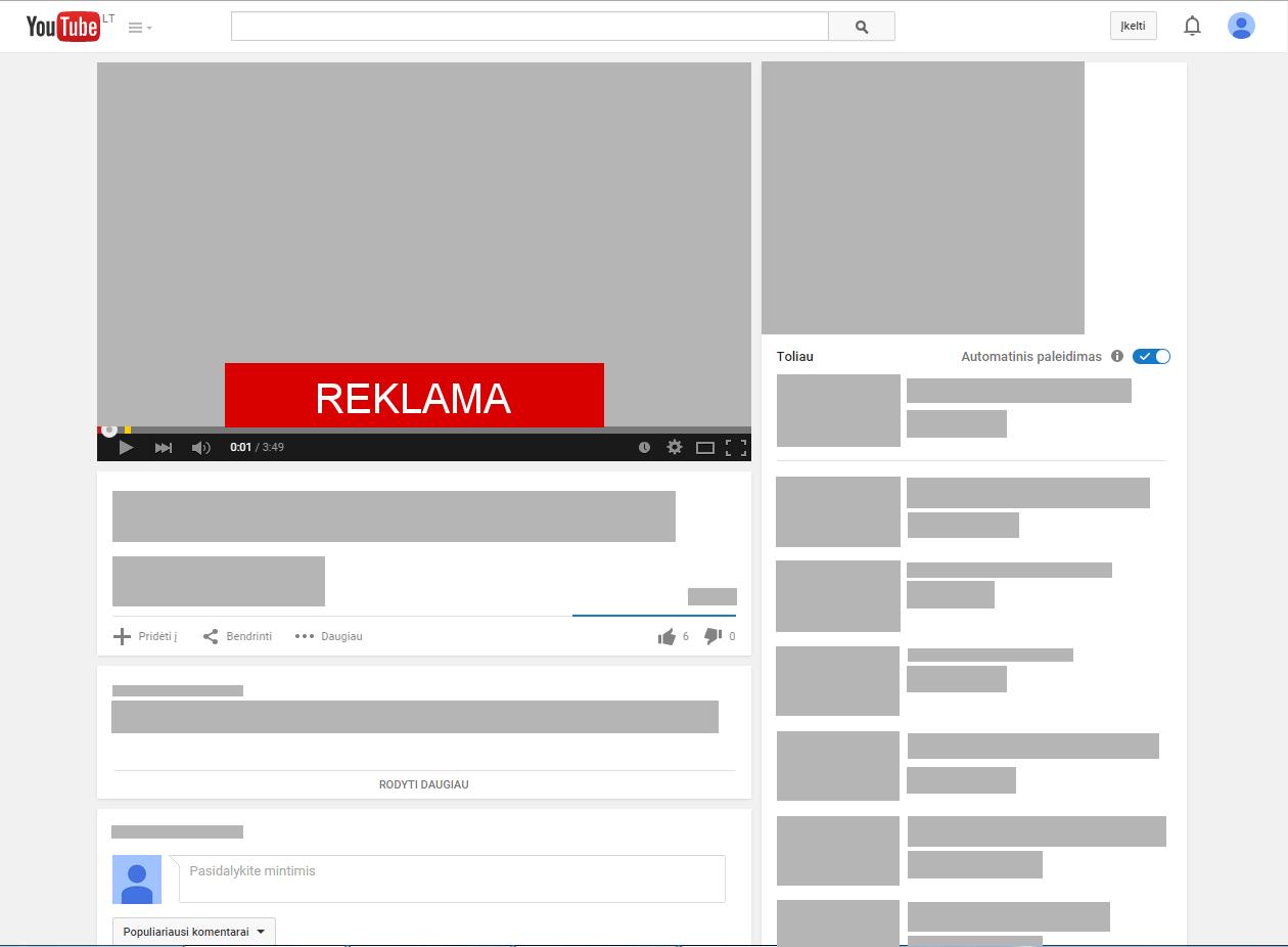 Reklama ant video