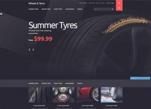Tyres e-shop theme