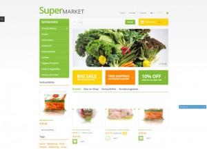 Supermarket website theme