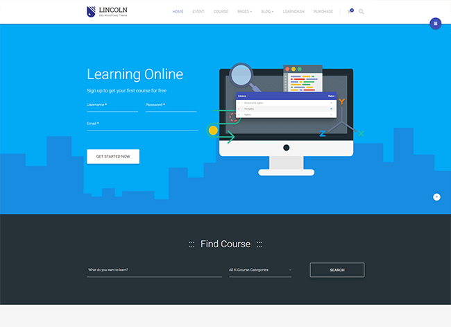 Learning online theme