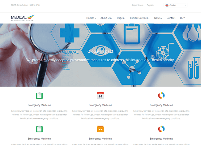 Medicinos wordpress tema