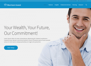 Investment wordpress sablonas