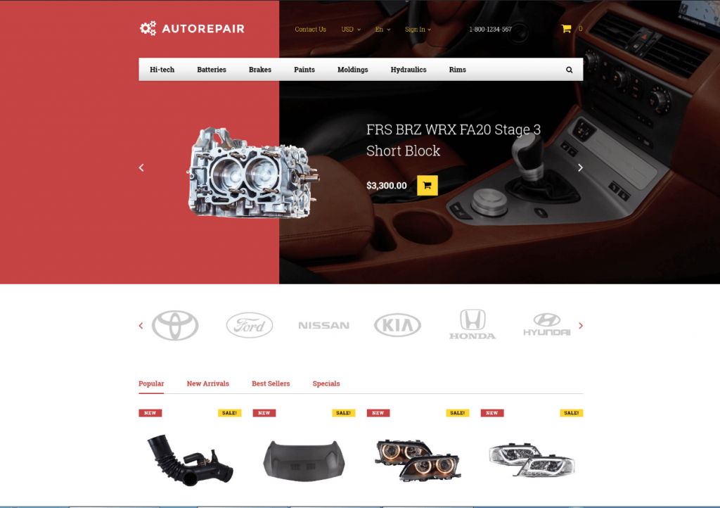 Autorepair wordpress theme