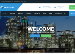 Industrial – Manufacturing WordPress Theme