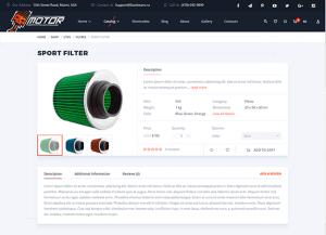 Wordpress e-shop tema - motor
