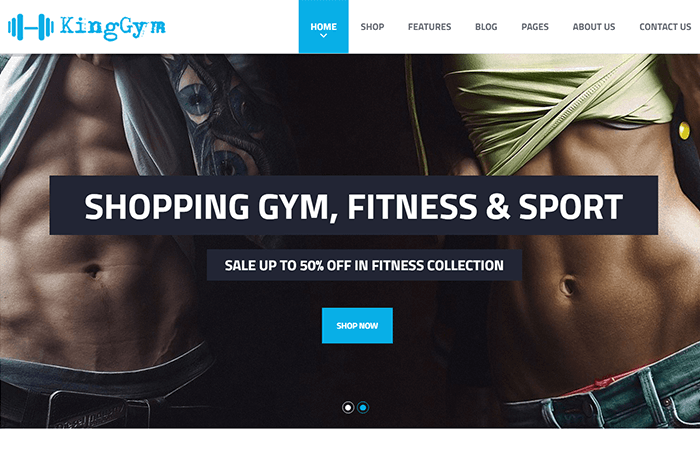 Kinggym wodrpress sport theme