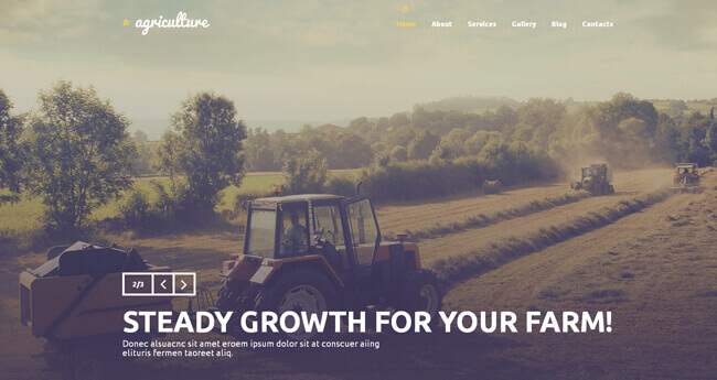 Agriculture wordpress sablonas