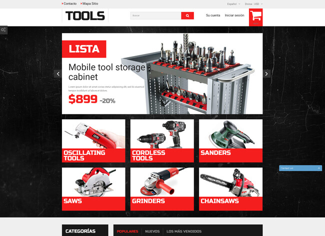 Tools wordpress theme