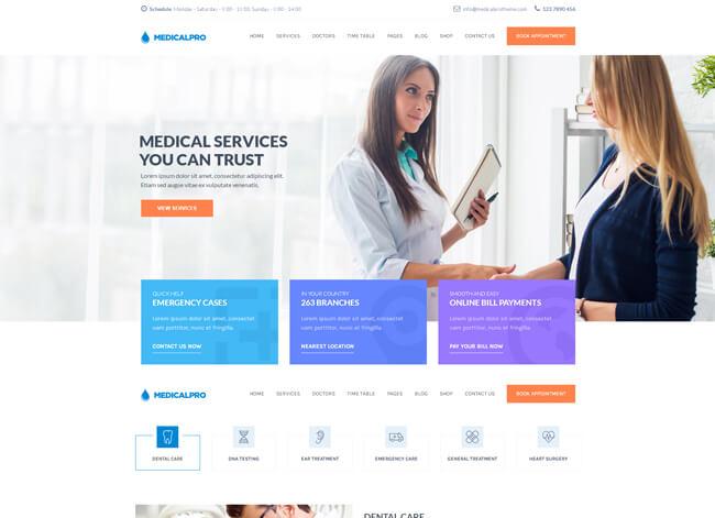 Medicl pro theme