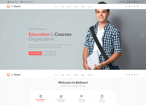 Wordpress mokymosi tema - be smart