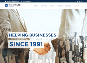 Business and Corporate wordpress theme