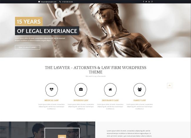 The Lawyer wordpress theme