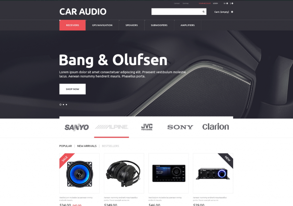 Car audio theme wordpress