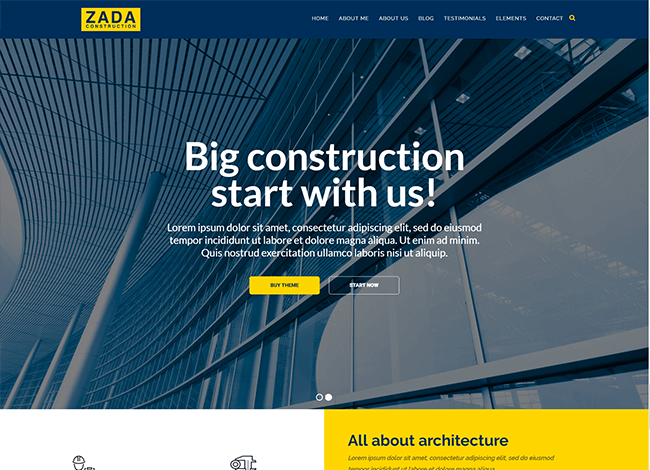 Zada wordpress tema