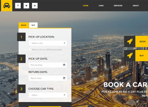 Auto rent wordpress theme