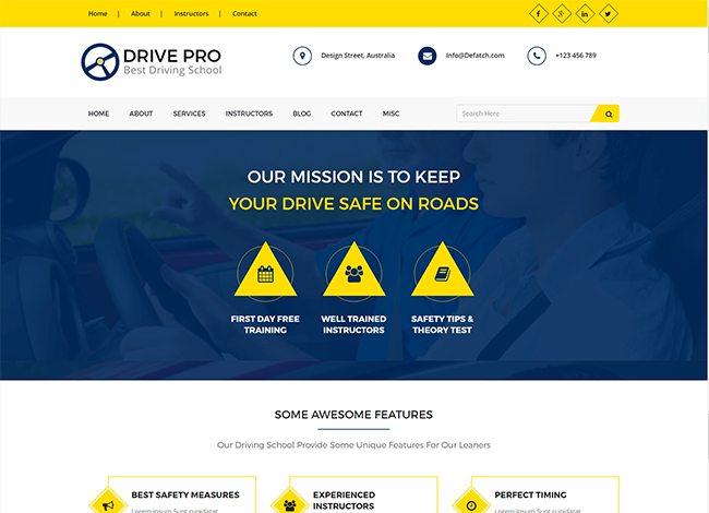 Drivepro wordpress theme