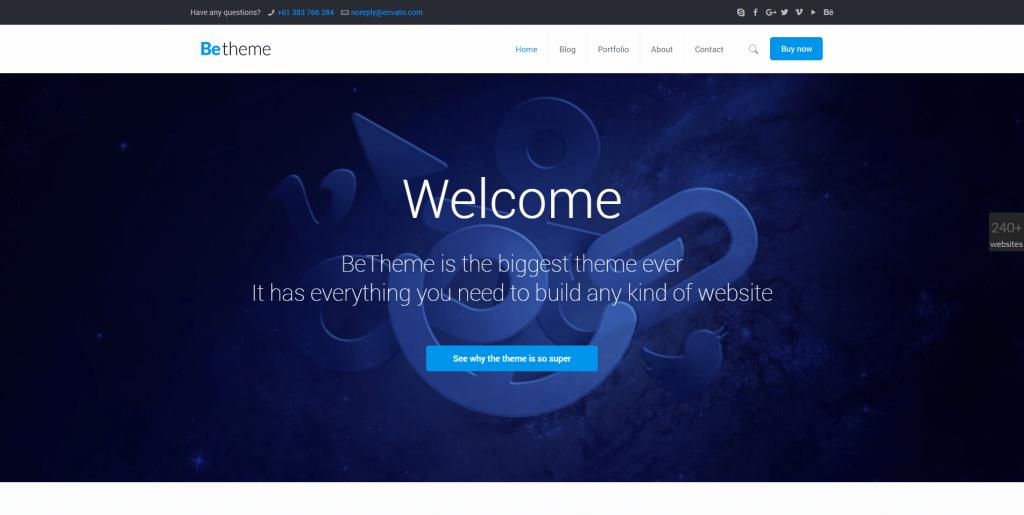 BeTheme wordpress premium theme