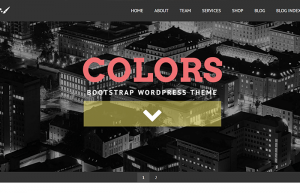 Colors Bootstrap WordPress theme