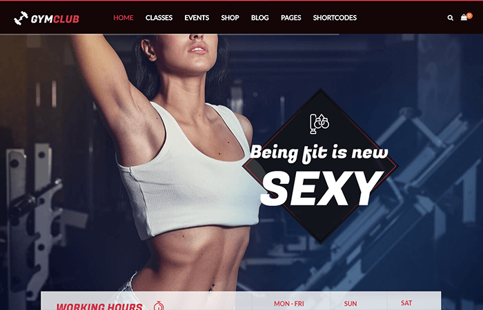 Gym Club – Gym and Fitness WordPress Theme