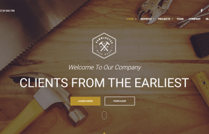 WoodStar Multipage – Construction Carpentry WordPress Theme